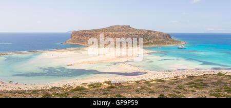 Balos beach at Crete island in Greece - Stock Photo