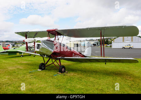 G-ANDR De Havilland DH-82A Tiger Moth II biplane (1953) involved in an accident Munich Riem 12/07/1954 and de-registered. - Stock Photo