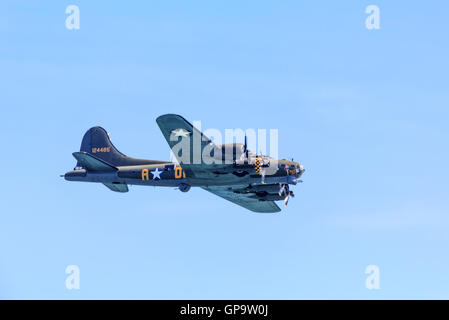 Boeing B-17G-105-VE Flying Fortress Sally B at Eastbourne Airshow Airbourne 2016 - Stock Photo