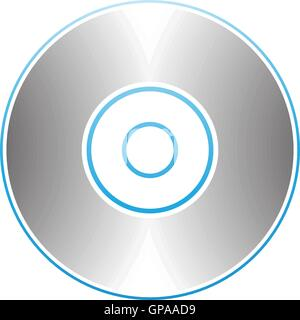Illustration of PC Accessories Cd Dvd Blu-Ray Disk isolated on a white background - Stock Photo