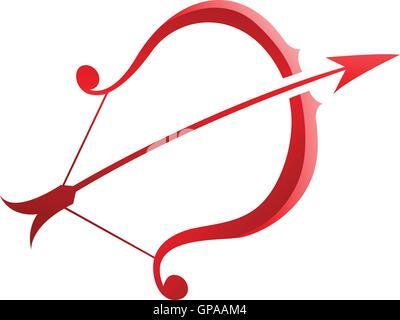 Symbol Sagittarius Zodiac Sign Vector Illustration Stock Photo