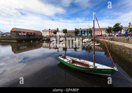Aberaeron Harbour, Ceredigion, Wales - Stock Photo