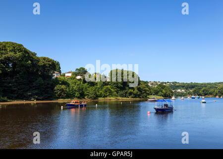 The river Teifi as it passes through Cardigan. Known Locally as the Netpool - Stock Photo