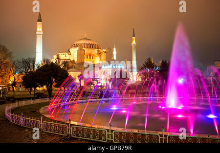 Hagia Sophia was built as christian cathedral, served as imperial mosque and is now a famous museum in Istanbul, - Stock Photo