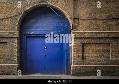 Door in a historic building in London. - Stock Photo