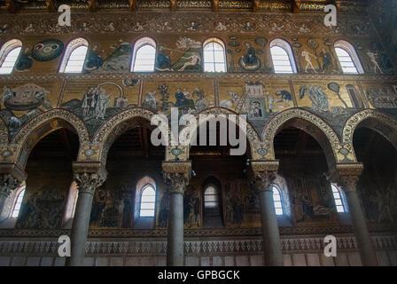 Duomo di Monreale, Palermo, Sicilia - Stock Photo