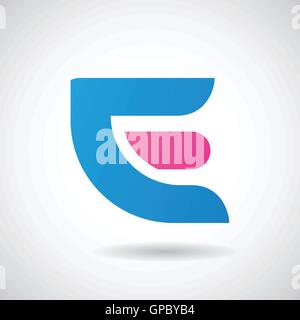 Design Concept of a Colorful Stock Logo Icon of Letter E, Vector Illustration - Stock Photo