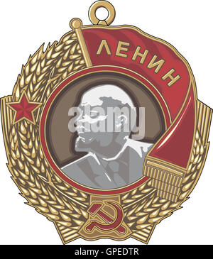 Soviet order of Lenin. Vector illustration. - Stock Photo