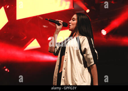 Tulisa performs at 'The Big Weekend' for Manchester Pride. - Stock Photo