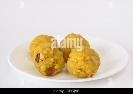 Indian sweet - boondi laddoo - Stock Photo