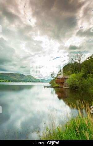 Ullswater boat house, Lake District - Stock Photo