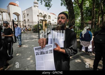 London, UK. 4th September, 2016. File Image: Islamist Yazdani Choudary, 53, older brother of jailed radical Anjem - Stock Photo