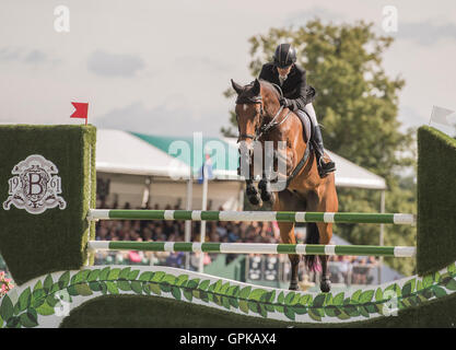 04.09.2016. Burghley House, Burghley, England. Land Rover Burghley Horse Trials. Show Jumping. REVE DU ROUET ridden - Stock Photo