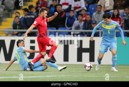 Astana, Kazakhstan. 4th September, 2016. Maciej Rybus (POL), Kazakhstan versus Poland, FIFA World Cup 2018 qualifier. The game ended in a 2-2 draw Credit:  Action Plus Sports Images/Alamy Live News