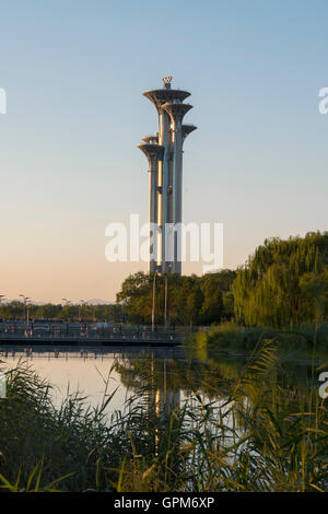 Ling Long Tower at Olympic Park in Beijing, China - Stock Photo