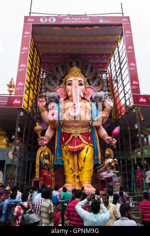 Tallest Ganesh Idol in Hyderabad - Stock Photo