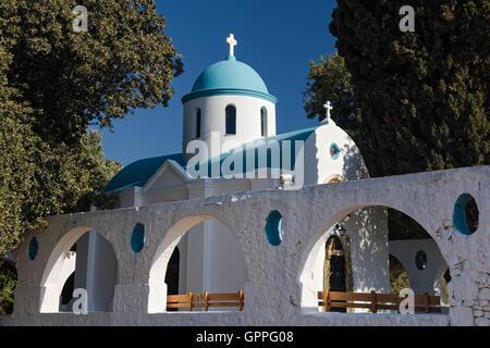 Small traditional church in Kos island, Greece - Stock Photo