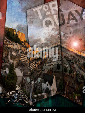 DIGITAL ART: Torquay - Devon, Great Britain - Stock Photo