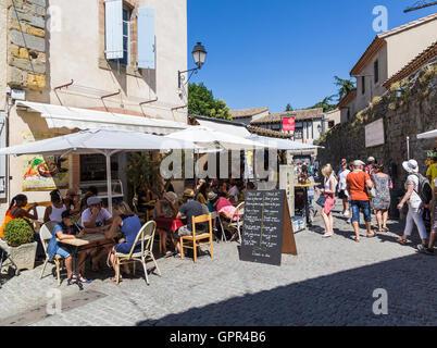 Street scene in Carcassonne - Stock Photo
