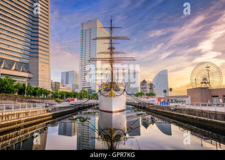 Yokohama, Japan cityscape at Minato-mirai district. - Stock Photo