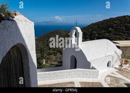 Small traditional church in Nisyros island, Greece - Stock Photo