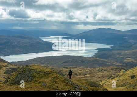 Loch Sunart from the track to Ben Resipol, Ardnamurchan, Scotland, UK - Stock Photo