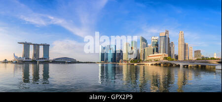 Singapore panorama city skyline - Stock Photo