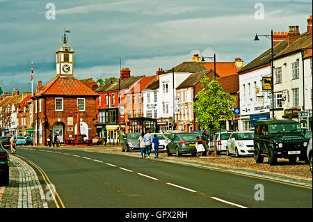 Yarm High Street, Yarm near Stockton on Tees, Cleveland - Stock Photo
