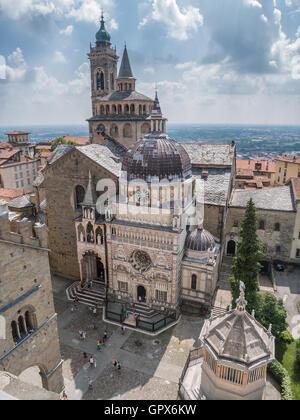 Basilica di Santa Maria Maggiore in Bergamo, Italy - Stock Photo