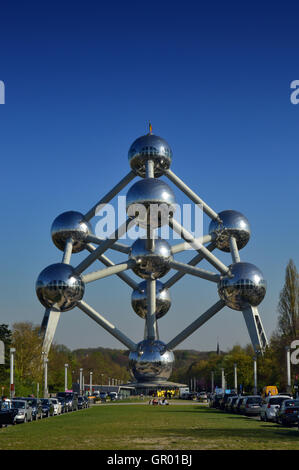 The Atomium, Brussels, Belgium - Stock Photo