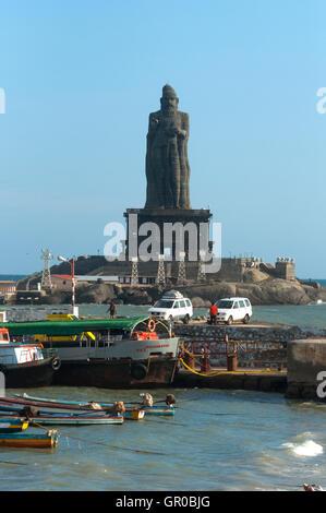 Thiruvalluvar Statue - Stock Photo