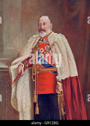Edward VII, 1841 – 1910.  King of the United Kingdom and the British Dominions and Emperor of India. - Stock Photo