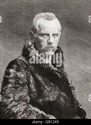 Fridtjof Nansen, 1861 – 1930.  Norwegian Arctic explorer, scientist, diplomat, humanitarian and Nobel Peace Prize - Stock Photo