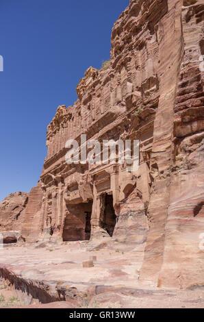 The Palace tomb  of the Royal Tombs, Petra , Jordan - Stock Photo