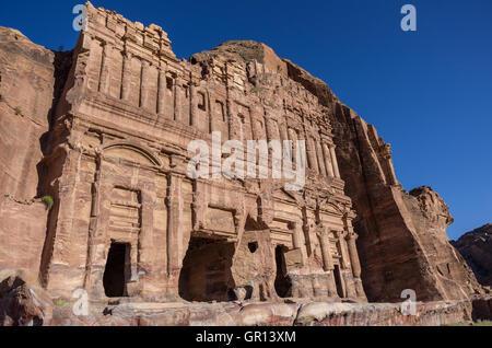 The Palace tomb. One of the Royal Tombs, Petra , Jordan - Stock Photo