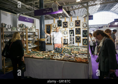 London, UK. 5th Sep, 2016. Stall exhibition at International Jewellery at Kensington Olympia, London, UK. See Li/Picture - Stock Photo