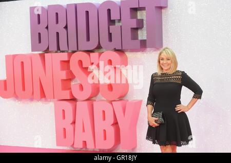 London, UK. 5th Sep, 2016. Helen Fielding attends the World Premiere of 'Bridget Jones' Baby' at Odeon Leciester - Stock Photo