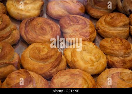 Traditional burek - balkan food - Stock Photo