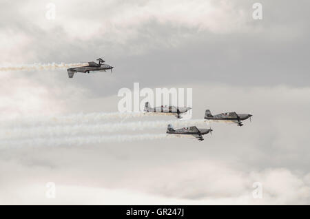 The Blades aerobatic display team performing stunts at the Scottish airshow. - Stock Photo