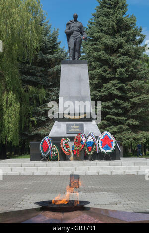 Monument commemorating World War II, Zelenogradsk, ex Cranz, Kaliningrad Region, Russia, - Stock Photo