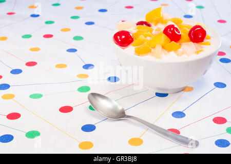 Yogurt with fruit - Stock Photo