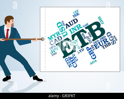 Etb Currency Representing Ethiopian Birr And Words - Stock Photo