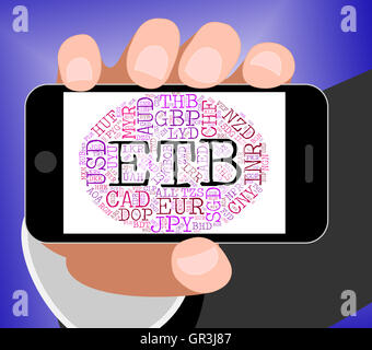 Etb Currency Meaning Ethiopian Birr And Foreign - Stock Photo