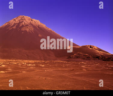 Pico de Fogo. Fogo, Cape Verde Islands, Africa.  Pico do Fogo pronounced[ˈpiku du ˈfoɡu] is the highest peak of - Stock Photo