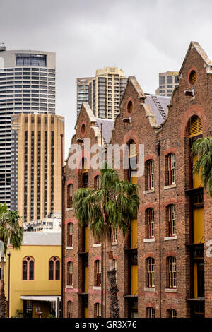 Old Australasian Steam Navigation Company Building, The Rocks, Circular Quay, Sydney, New South Wales, Australia - Stock Photo