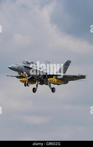 Spanish Air Force (Ejército del Aire) McDonnell Douglas EF-18B Hornet - Stock Photo