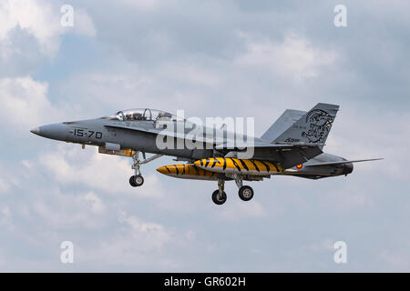 Spanish Air Force (Ejército del Aire) McDonnell Douglas EF-18B Hornet - Stock Photo