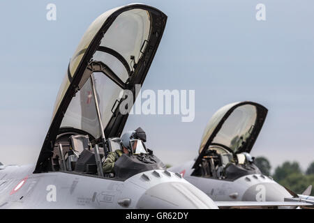 Royal Danish Air Force (Kongelige Danske Flyvevåbnet) General Dynamics F-16BM - Stock Photo