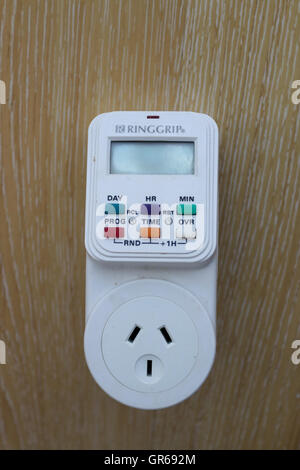 Ringgrip Electronic digital Timer Socket Plug in - Stock Photo