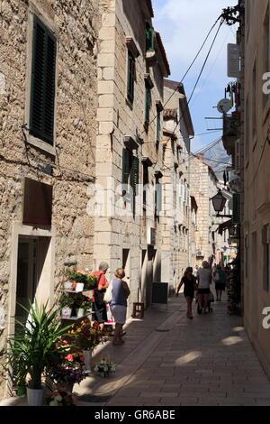 Old Town, Alley, Makarska, Dalmatia, Croatia, Europe - Stock Photo